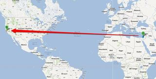 32.086101, 34.790857 to San Francisco, CA - Google Maps