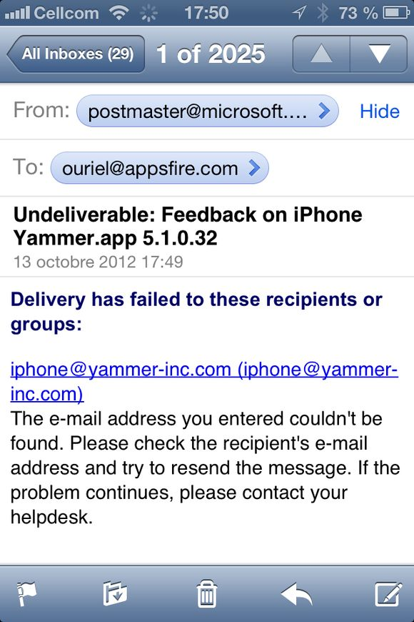 Yammer, are you dead or what?
